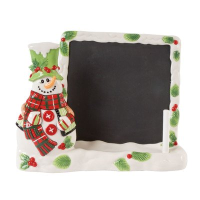 Holly Hat Snowman Tablet Holder and Chalkboard