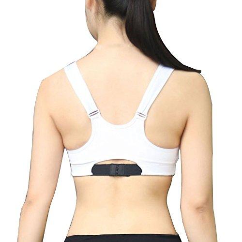 Wingogo Sans couture Soutien Gorge Sport Push Up Rembourre Pour Femme Blanc