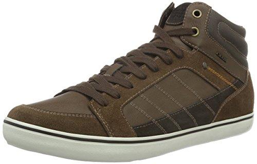 Geox U Box G, Sneakers Hautes Homme Braun (CIGARC6007)