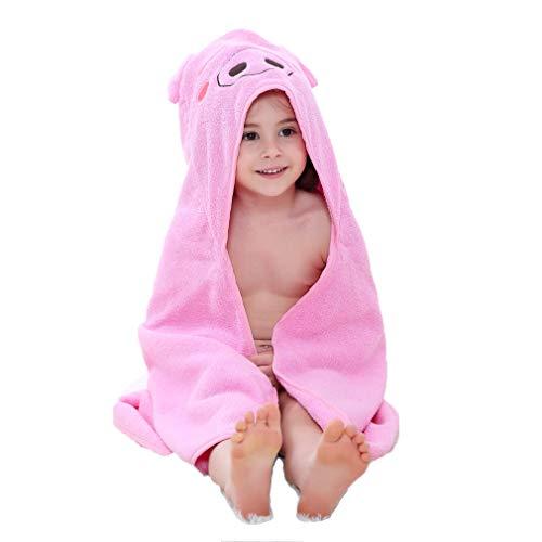 ZMH Kinder mit Kapuze Badetuch für 1-7 Jahre alt Kinder, atmungsaktiv warme niedliche Bademäntel Tier gedruckt Baby Jungen Mädchen Strand Schwimmen Handtuch im Alter von 2 3 4 5 - Niedliche Kostüm Zwei Jahre Alt