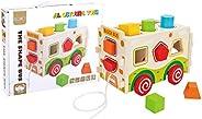 Al Ostoura Toys The Shape Bus Educational Wooden Toy