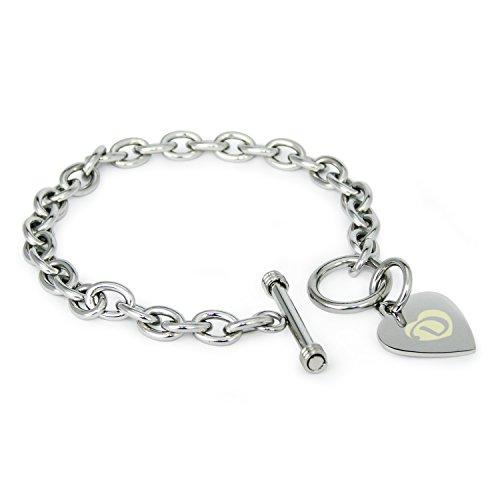 acciaio-inossidabile-alphabet-letter-d-initial-fascino-cuore-inciso-braccialetto-solo