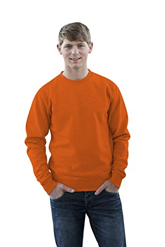 JH030 Sweater Sweatshirt Sweat Sweater Pullover Orange Crush