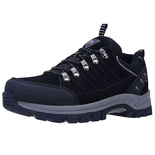 CAMEL CROWN Zapatillas de Senderismo Hombres Low-Top Zapatos de Seguridad Trabajo Antideslizantes Zapatillas...