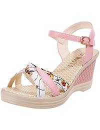 Sandalias mujer, Manadlian Mujer Sandalias de verano Cuñas Zapatos Día de San Valentín Zapatos de tacón alto (CN:39, Rosa)