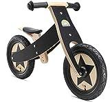 Laufrad BIKESTAR Mitwachsendes Kinder Laufrad Holz Lauflernrad Kinderrad für Jungen Mädchen ab 2-4 Jahre ★ 12 Zoll 2 in 1 Kinderlaufrad ★ Schwarz 2018 bei Amazon
