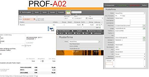 Prof A02w Rechnungssoftware Rechnungsprogramm Rechnungen Schreiben