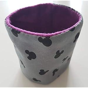 Hundeloop Loop Hund Micky Mouse lila 23/26 Handarbeit Handmade