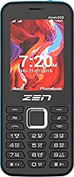 ZEN Atom 202 Dual SIM Feature Phone (Black-Blue)