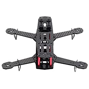 Carbon Fiber DIY Quadcopter Quad Race Copter Frame Kit 250 FPV Race Drone Sport carbon fiber aluminum black, by LC Prime