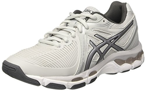 Asics Women's Gel-Netburner Ballistic Indoor Shoes, Multicolour (Glacier Grey/Silver/Dark Grey), 6 UK...