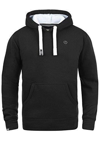 !Solid BennHood Pile Herren Kapuzenpullover Hoodie Sweatshirt mit Teddy-Futter und aus Hochwertiger Baumwollmischung, Größe:L, Farbe:Black Pil (P9000)