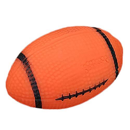 ALWAYZZ Haustier Hund Ball Spielzeug Rugby Baseball mit Sound Vinyl Haustier Outdoor Training Kauen Interaktives Spielzeug Bissfest Quietschendes Spielzeug für Hunde,A
