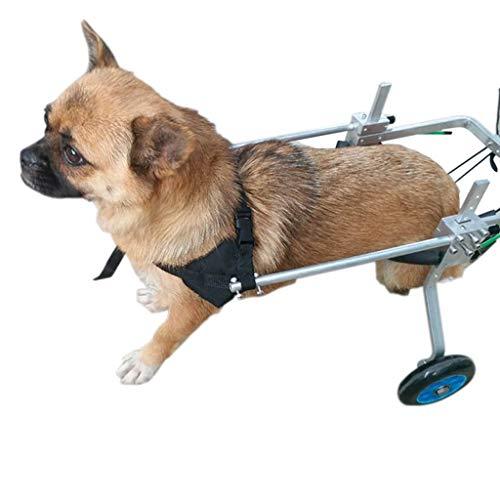Hunderollstuhl,Dog wheelchair Hund Rollstuhl, Haustier Reha-Trainingswagen, verstellbarer 4-Rad Edelstahl Wagen Haustier / Katze Hund Rollstuhl Hinterbein Rehabilitation for behinderte Hunde - I78OHQ