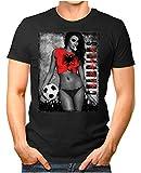 Legendary ItemsTM - Albania-Champions - Herren T-Shirt EM 2020 Sexy Girl Frau Fußball Trikot Albanien Vintage Schwarz M