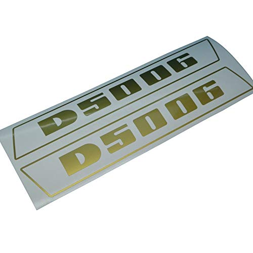 DEUTZ D5006 Schriftzug Aufkleber in Gold, Ersatzteil Sticker Beschriftung Dekor. Zum Oldtimer Restaurieren von Lack und Verkleidung. Alternativ zum Schlepper Emblem