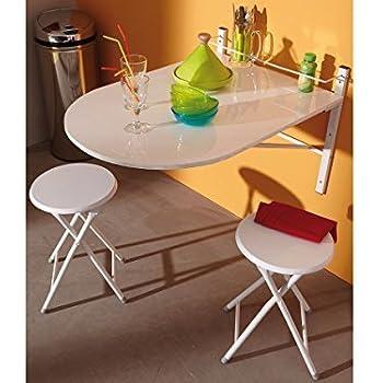 Küchentisch mit barhockern  Set Bartisch Esstisch JONATHAN, mit 2 Barhockern, ausklappbar, in ...