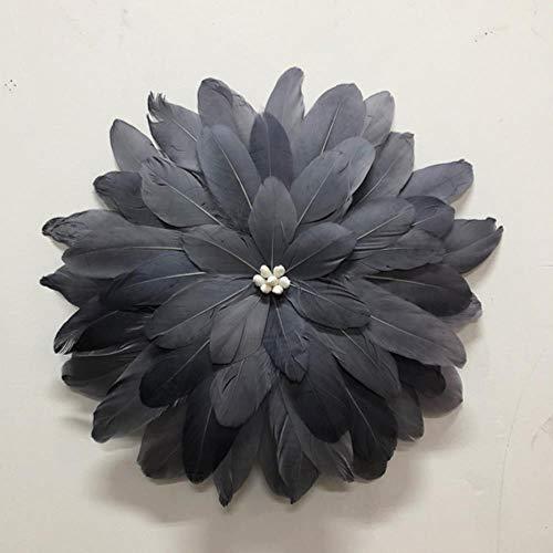 FSHB Home Tapiz de Mandala Colgante de Pared de macramé Espejo Decorativo de Plumas Tejidas a Mano...