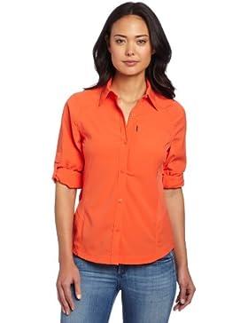 Columbia AL7079 Camisa, Mujer, Naranja (Zing), L