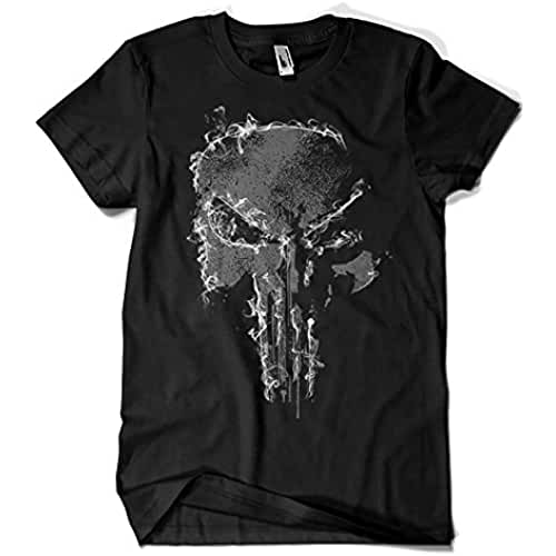 dia del orgullo friki 2206-Camiseta Skull Smoke - Punisher (Melonseta)