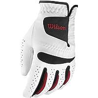 WILSON - Guanti da golf da uomo Feel Plus MLH, Bianco (bianco), M