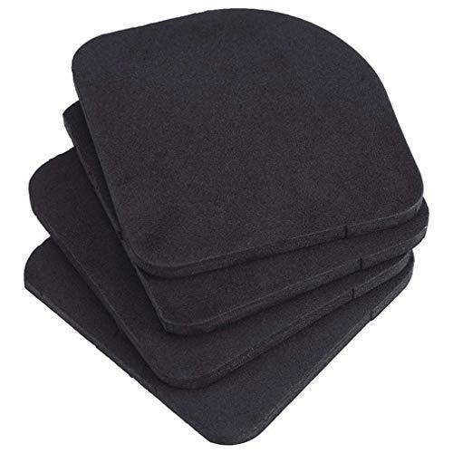 Poualss 4 Stück Anti-Vibrations-Pads, Universal Rubber Silent Feet Pads für Waschmaschine Kühlschrank Haushaltsgerät (Feet-anti-vibration Silent)