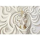 Fototapete 300x210 cm - ALLE TOPSELLER auf einen Blick ! Vlies PREMIUM PLUS - A PERFECT WOMAN - Frau Erotik Gold elegant 3D Wand - no. 045