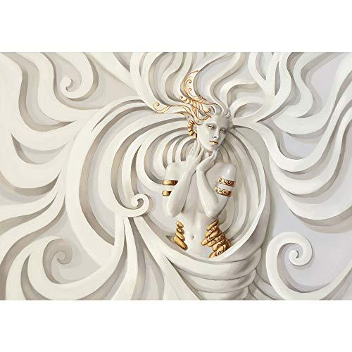 #Vlies Fototapete 350×245 cm PREMIUM PLUS Wand Foto Tapete Wand Bild Vliestapete – A PERFECT WOMAN – Frau Erotik Gold elegant 3D Wand – no. 045#