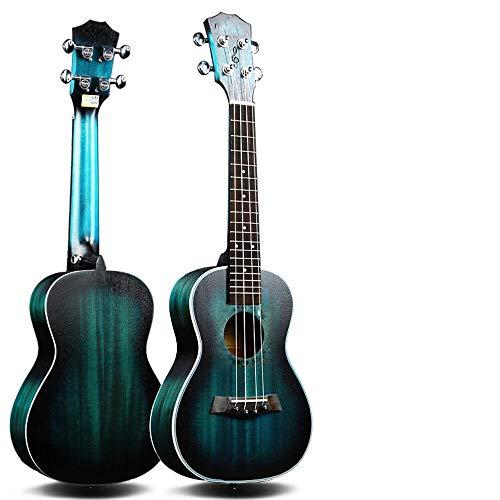 ZXZX Ukulele Ukulele De 23 Pulgadas Concierto 4 Cuerdas Instrumentos Musicales 18 Trastes Caoba Pequeña Guitarra Azul Uke