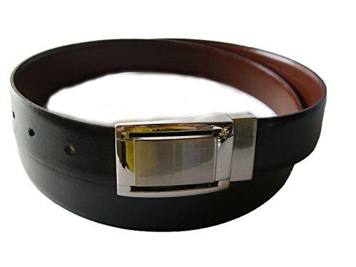 Cinturon De Piel Reversible Negro y Marron (95)