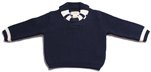 Viddia - Pull - Bébé (garçon) Multicolore Navy Blue with Natural Cream in 9-12 months
