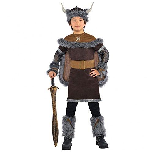 Kinder Kostüm Viking - Jungen Wikinger Krieger Kostüm Historisch Mittelalterlich Sächsisch Kostüm - 12-14 Jahre