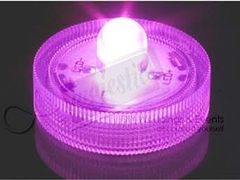 lot de 10 bougies led piles submersibles roses tanches fushia pink luminaires. Black Bedroom Furniture Sets. Home Design Ideas