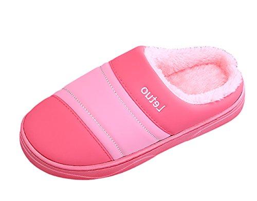 SK Studio Coppie Pantofole Peluche Invernali Antiscivolo Chiuse Scarpe Per Casa Rosa
