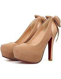 CXQ-Talons QIN&X High Heels Stiletto Femmes Parti Plate-Forme Peu Profonde Bouche discothèque Pompes Chaussures, Rouge, 35
