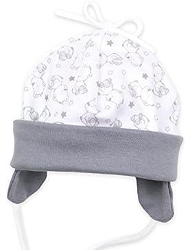 Baby Sweets Baby Mütze Unisex weiß grau | Motiv: A star is born | Babymütze zum Binden für Neugeborene & Kleinkinder...