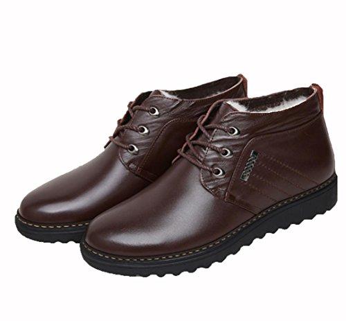 WZG Le nuove scarpe di cotone imbottito, più caldo velluto degli uomini inverno stivali popolari stivali cotone doposci casuali , brown , 44