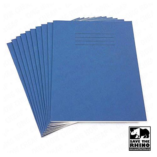 Schulhefte mit 8mm Linien, A5,48Seiten, 165x 203mm, 10Stück, blauer Einband