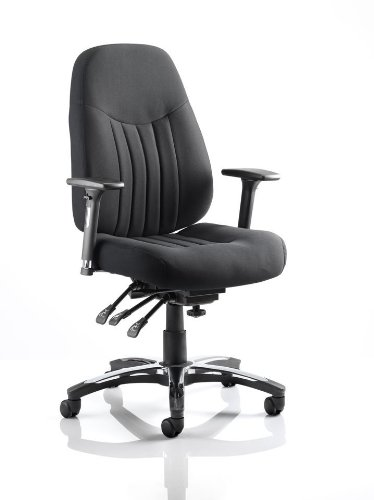 BARCELONA DELUXE BLACK FABRIC TASK CHAIR