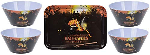 made2trade Halloween Melamin Schale und Tablet Set - Halloween Party