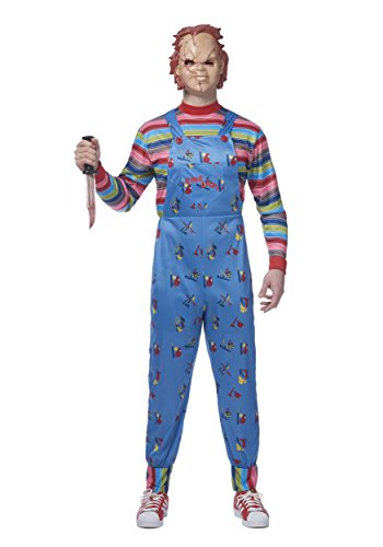 Mens Chucky Fancy Dress Costume X-Large (Horror Movie Fancy Dress Kostüme)
