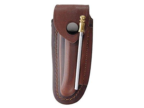 Braunes-Leder-Etui-fr-Laguiole-Messer-mit-12-cm-Heftlnge-lngs-und-quer-tragbar-inkl-Wetzstahl-10-cm