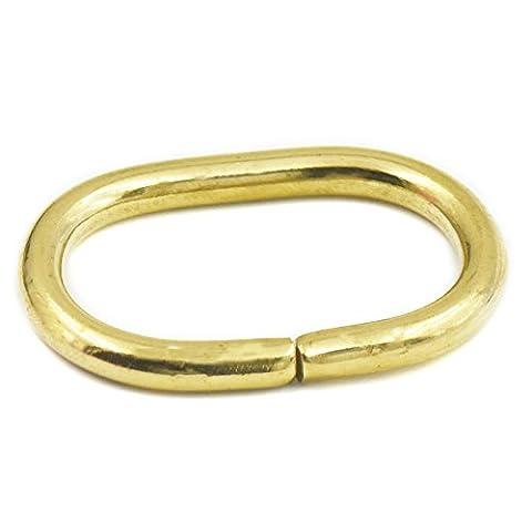 fujiyuan 10jeux 42mm 4,2cm 202cm x4.5mm 0,4cm Bague Ovale Boucle en laiton massif anneaux non soudé Sangles pour sac à main en cuir Sac à main
