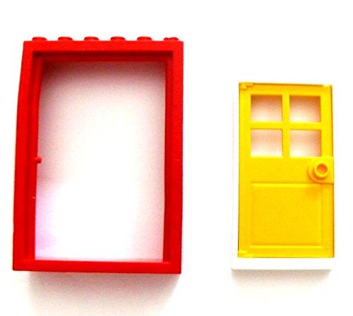 LEGO ® Kran Kranarm mit Kurbel Hebekran Arm - Grundplatte 4 x 4 - rot