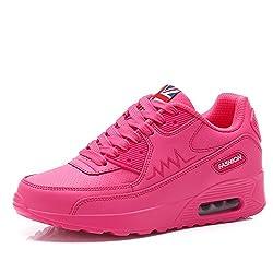 Padgene Ladies Trainers Women's Sports Running Shoes Air Max Sneaker Running Jogging Trainers Girls (4.5 UK, PINK)