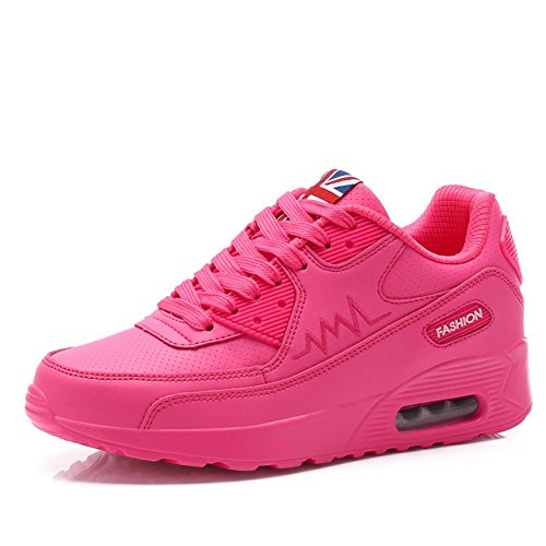 PADGENE Turnschuhe Damen Sportschuhe schockabsorbierende Straßenlaufschuhe neue Schuhe für Mädchen [2016 Neue Version] Rosa