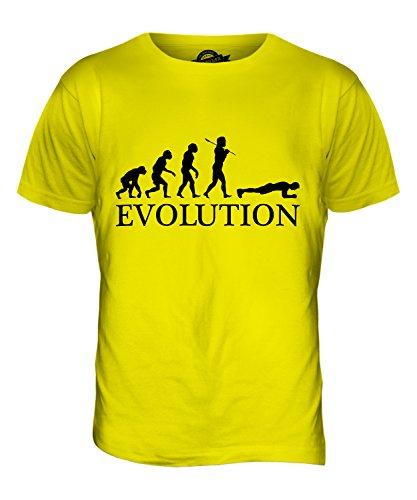CandyMix Die Planke Evolution Des Menschen Herren T Shirt Zitronengelb