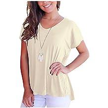 Imixcity Verano Camisas De Hombro Frío Blusas Tops del Batwing Camisetas  sin Mangas Camiseta Casual Camiseta 2fd315356065