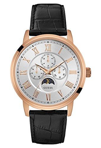 Guess Reloj Análogo clásico para Hombre de Cuarzo con Correa en Cuero W0870G2