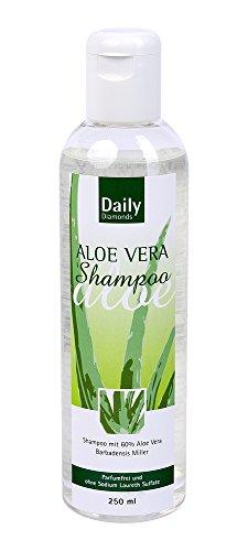 Daily Diamonds Aloe Vera Shampoing sans parfum sans Laureth sulfate 250 ml – Idéal Aussi Pour Cheveux Fins, il ne Sodium silicone contient – lestée pas le cheveu -
